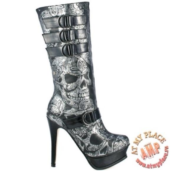 9 Fist Mine O Iron Skull Size Boots Sweet XiTkuZwOP